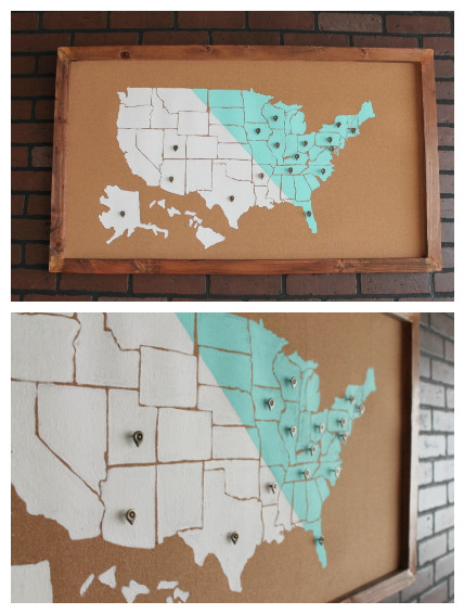 DIY USA Map Wall Art 2